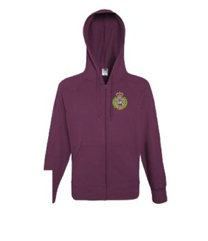 RE Embroidered Zipped Hoodie
